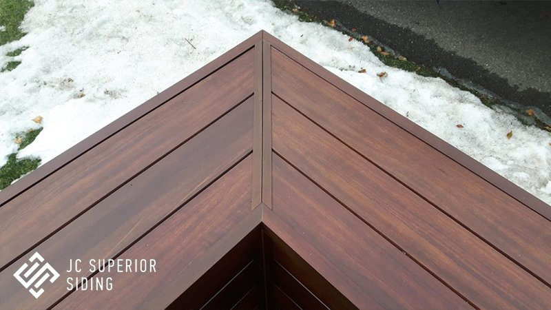 Jc superior siding inc aluminum wood grain siding for Wood grain siding panels