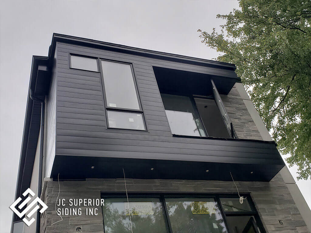 Longboard Siding, Color_ Black, Toronto - JC Superior
